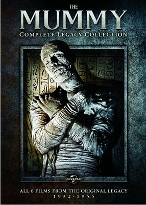 THE MUMMY COMPLETE LEGACY COLLECTION New Sealed 3 DVD Set All 6 Universal Films