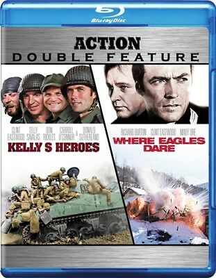 KELLY'S HEROES + WHERE EAGLES DARE New Blu-ray Clint Eastwood Double Feature