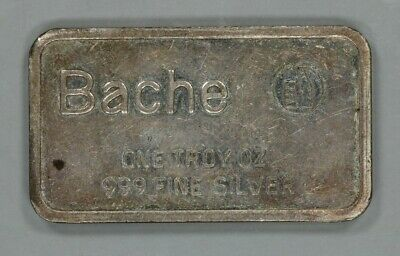 """BACHE 1 TROY oz .999 FINE SILVER BAR """"THE WINNING ATTITUDE"""" THUMBS UP (4777)"""