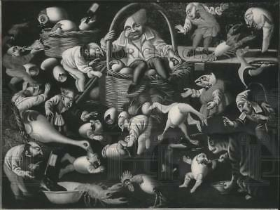 """1963 Press Photo """"The Fertility of the Egg"""", painting by Pier Leone Ghezzi"""