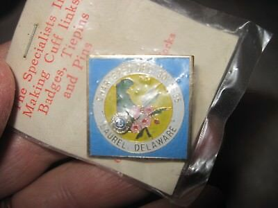 Laurel Delaware LIONS CLUB Pin..Date??, Made Taiwan Rep. of China..