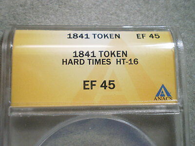 1841 Millions For Defense Hard Times Token Ef45 Anacs/ Ht-16 (4493115)