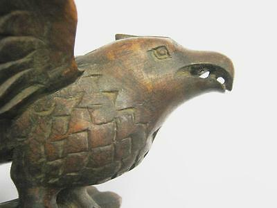 Vintage Old Wooden Carved Eagle Intricate Carving 9.25 Inch .