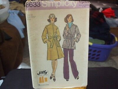 Simplicity 6633 Misses Unlined Wrap Coat in 2 Lengths Pattern - Size 10