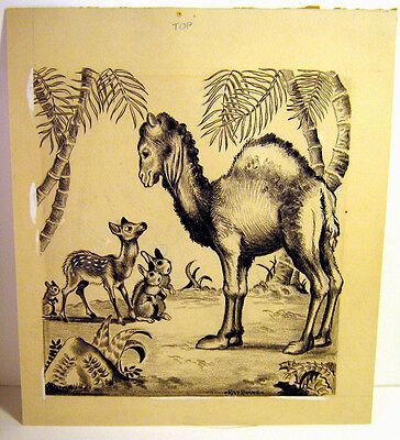 Ray Evans Original Artwork Signed Pen Ink Drawing - First Fairy Tales 1946
