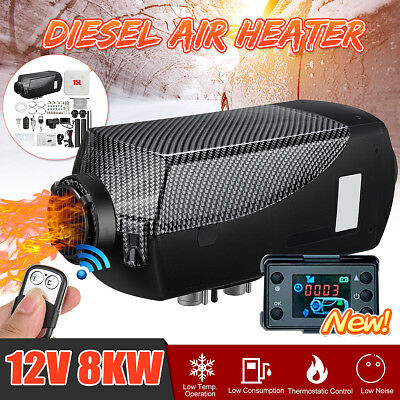 12V 8KW Diesel Air Heater LCD Thermostat+15L Tank+T Pipe For Truck Motorhome
