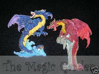 2 dragon plaster resin cement craft latex molds moulds