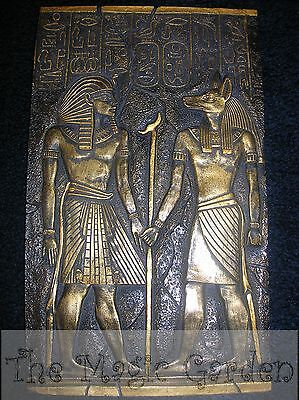 Egyptian hieroglyphics cement plaster craft wall plaque moulds molds -A