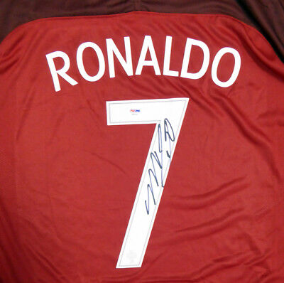 new product a0eee 54d62 SALE! CRISTIANO RONALDO Autographed Portugal Nike Authentic Jersey Xl  Psa/dna
