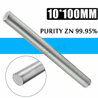 0.4''x 4'' High Purity Zn 99.95% Zinc Rod Anode Electroplating Solid Round Bar