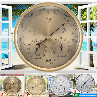 Wall Hanging Weather Station Barometer Thermometer Hygrometer Temperature