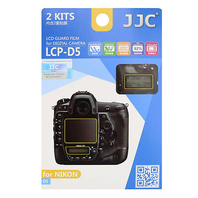 JJC LCP-D5 LCD Guard Film Screen Protector for Nikon D5 (Adhesive) *AUS Stock*