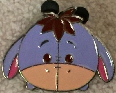 "DISNEY PIN EEYORE TSUM TSUM HEAD About 1 1/2"" X 1,"" POOH SAD DONKEY Cute! USED"