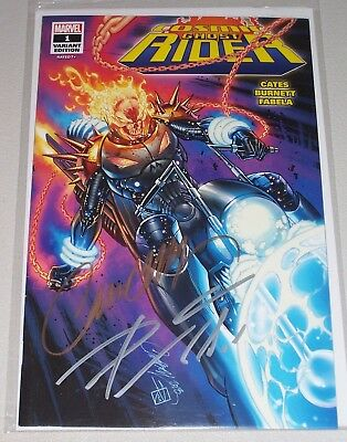 Cosmic Ghost Rider #1! (2018) SDCC Glow Variant! Signed-Cates & Campbell! NM!