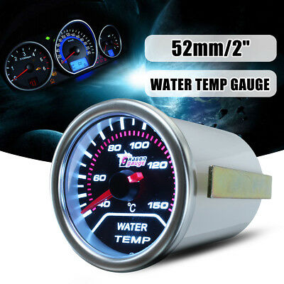"52mm 2"" Led Car Universal Digital Water Temp Gauge Temperature Meter Smoke Len"