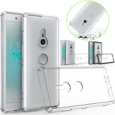 Slim Shockproof Hybrid Rubber GEL TPU Heavy Duty Case Cover For Sony Xperia XZ3