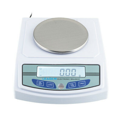 3000g/0.01g Precision LCD Balance Scale Lab Analytical Scale LEADZM