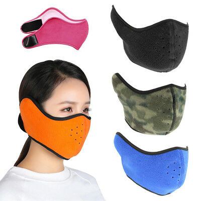 protection Winter Warm Fleece  Bike Bicycle  Cycling Half Face Mask Windproof