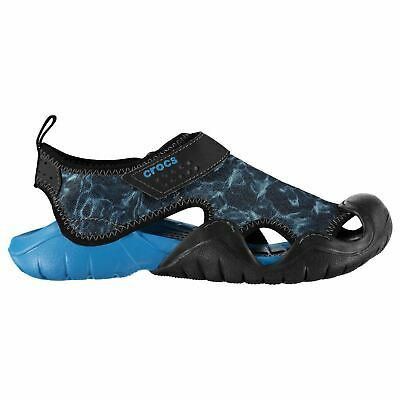 Crocs Mens Swiftwater Graphic Print Sandals Cloggs Lightweight Summer Shoes