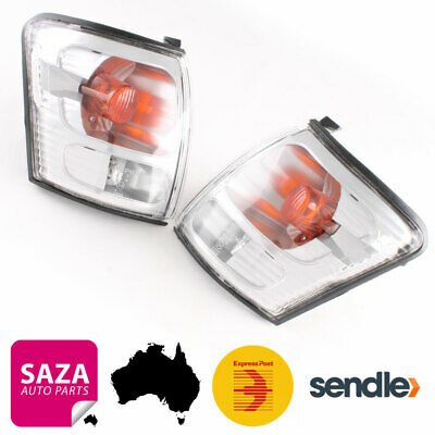 Pair of Front Silver Corner Indicator Park Lights Toyota Hilux 01-05 Japan Build