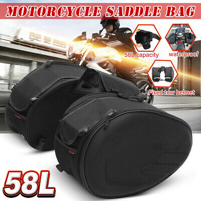 58L Large Capacity Multi-use Expandable Motorcycle Rear Seat Luggage Saddle Bag