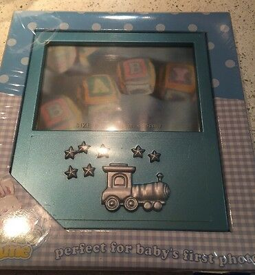 "Bon Bebe - Baby Boy Picture Frame - 4"" X 6""- New In Box - Baby Shower Gift"
