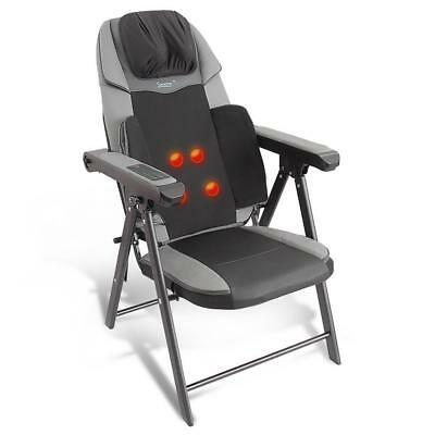SereneLife Portable Foldable Massage Chair, Electric Neck and Back Seat Massager