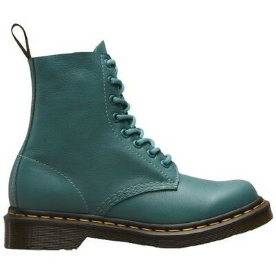 Ladies Dr Martens 1460 Pascal Pale Teal Virginia 8 Eyelet Lace Up Leather Boots