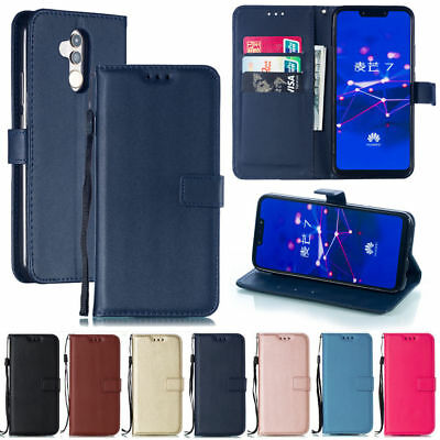 For Huawei Mate 20 Lite/P20 Pro Leather Stand Flip Cards Wallet Cover Phone Case