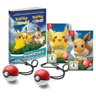 Pokemon Lets Go Pikachu + Evoli/Lösungsbuch 2x Pokeball option. Nintendo Switch