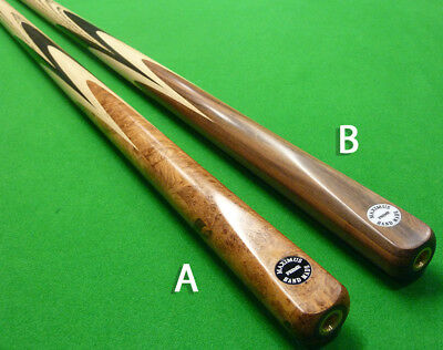 1pc Maximus Prime Hand spliced Snooker cue Ash, Ebony & Burr wood or Rosewood