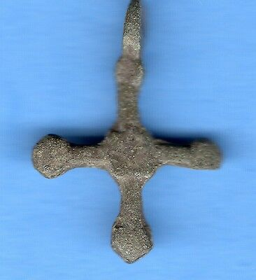Russia Kiev type Bronze Cross Pendant Viking time 10-12th ca 1100 AD RARE 420