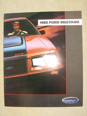 1983 Ford Mustang  Dealer Sales Brochure