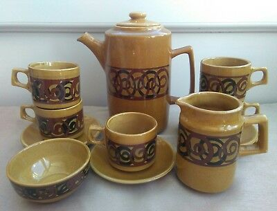 Vintage Brixham Pottery Ltd Devon Coffee Set