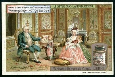 History of Furniture Louis 16th Century Style c1909 Trade Ad Card