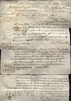 1805-06 ALNWICK, Impressed REVENUES on Interest payment receipts