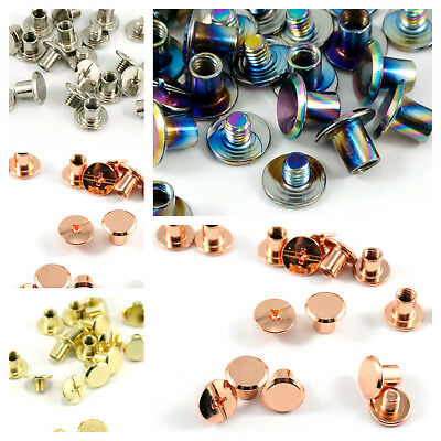 "SMALL CHICAGO SCREWS  3/16"" / 4 mm - by Emmaline Bags - range of finishes"