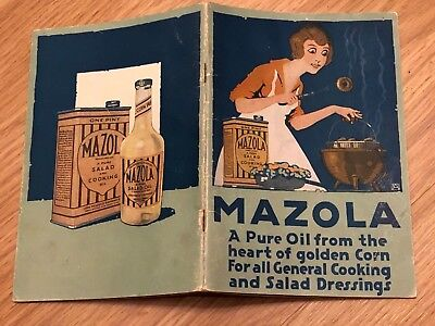 Mazola Recipes Booklet Rare 1920's Pamplet Booklet Cookbook Introducing 24 Pages