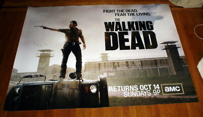 AMC THE WALKING DEAD SEASON 3 5FT subway POSTER TWD Andrew Lincoln Rick Grimes