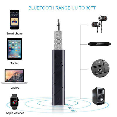 Wireless Bluetooth Car Kit Hands free 3.5mm Jack AUX Audio Receiver Adapter BC
