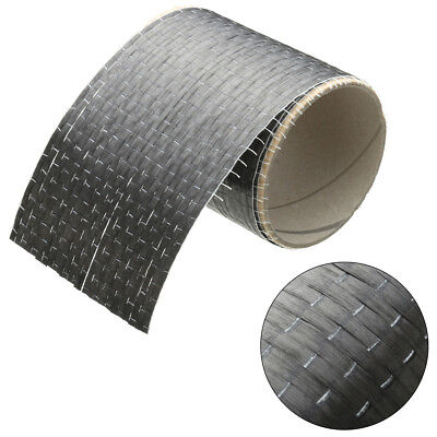 """12K 200gsm Real Carbon Fiber Fabric Cloth Tape UNI-Directional Weave 4"""" x 36"""""""