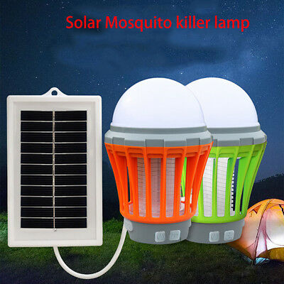 UV Solar LED Electric Fly Insect Bug Pest Mosquito Trap Zapper Killer Lamp ED