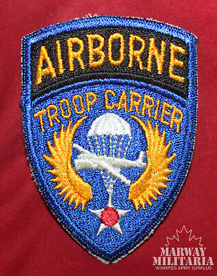 WW2 era USA Airborne Troop Carrier Cloth Patch  (inv 14634)