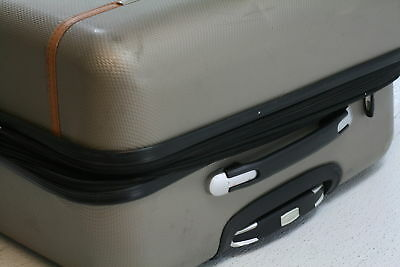 "Samsonite Centric Hardside 28"" Luggage Gold Zip Interior Divider Cross Strap"