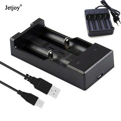 2/4 Slots Smart Battery Charger for 18650 Rechargeable Li-Ion Battery US UK Plug
