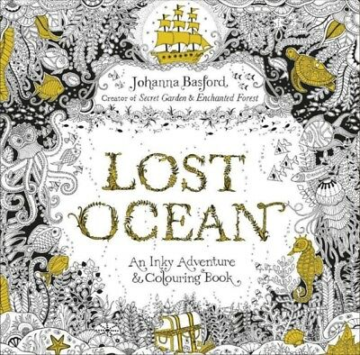 Lost Ocean: An Inky Adventure & Colouring Book (Paperback), Basfo...