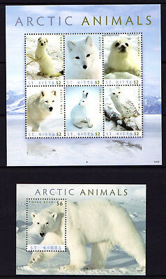 St. Kitts 2011 Arctic Animals Sheetlet 6 + M/S MNH