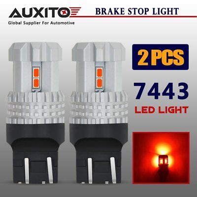 AUXITO 2x T20 7443R 7440 RED LED Brake Tail Stop Light Super Bright Globe Bulbs