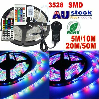 Waterproof 300 LEDS 5-50M 3528 SMD LED Strip Light DC 12V/ IR Controller/Power