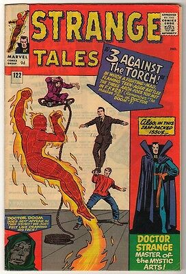 Marvel Comics  VFN STRANGE TALES #124 1963 HUMAN TORCH Fantastic four HIGH GRADE
